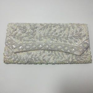 Vintage Ivory Beaded Clutch La Regale Evening Bag